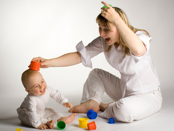 baby-and-nanny-playing